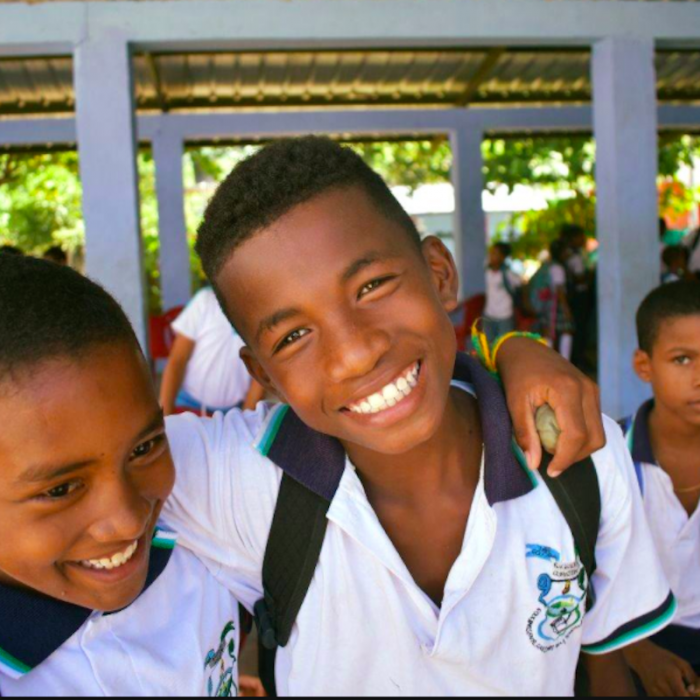 Photo: Students from the Diego Luis Cordoba School in the municipality of Acandi, Department of Choco in Colombia.