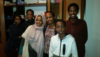 Sirad with her children in Germany