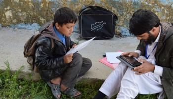An early grade reading program in Afghanistan